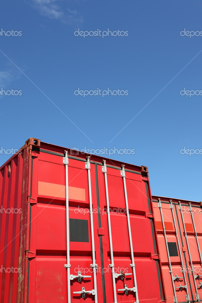 Cargo container and a blue sky  — Stock Photo #6168458