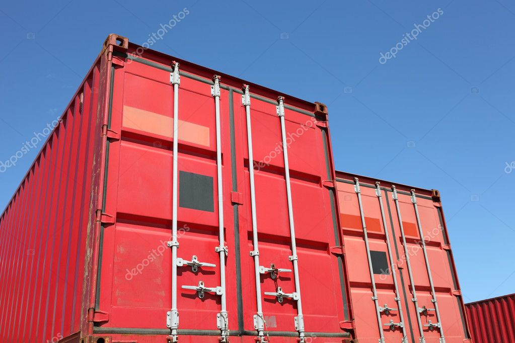 Cargo container and a blue sky   Stock Photo #6168475