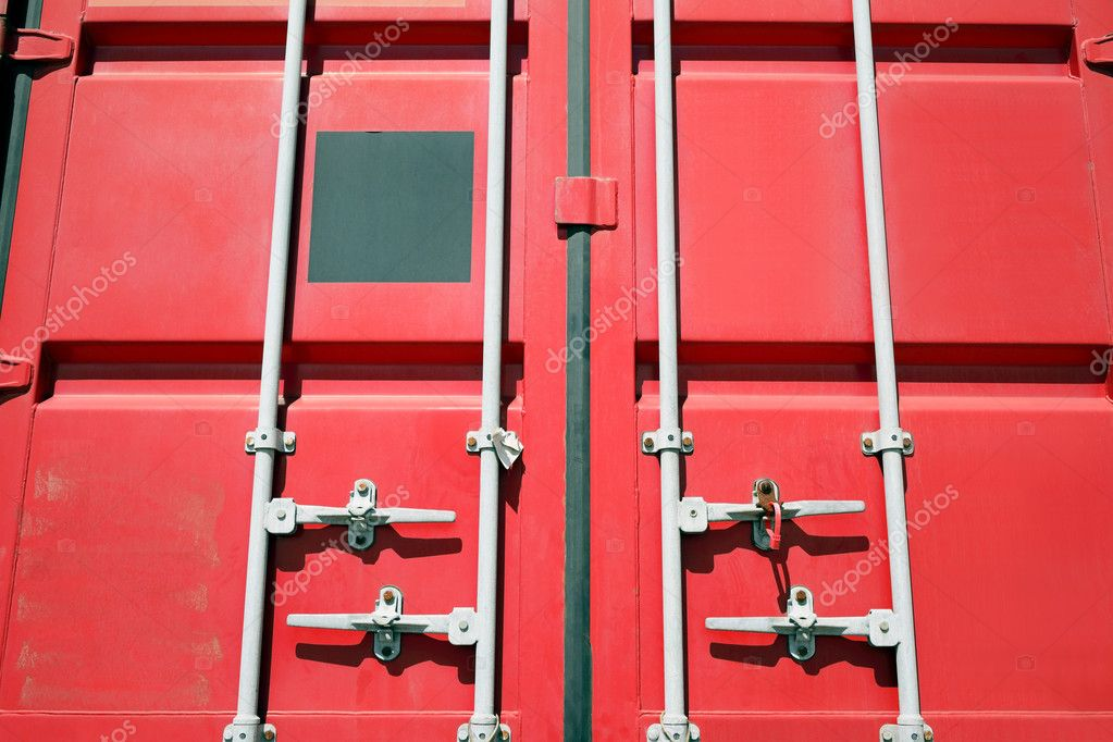 Red cargo container  — Stock Photo #6168511