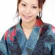 Stock Photo: Young japanese womwith traditional clothing kimono