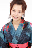 Young japanese woman with traditional clothing kimono — Stock Photo
