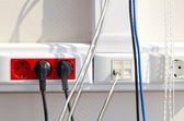 Campus telecommunications cabling infrastructure — Stock Photo