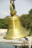 Bronze ship's bell — Stock Photo