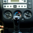 Car interior,gear shift — Stock Photo