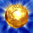 Gold earth with bump map,scratches — Stock Photo