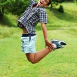 Young boy jumping — Stockfoto #5492747