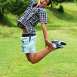 Stockfoto: Young boy jumping