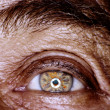 Old man eye — Stock Photo