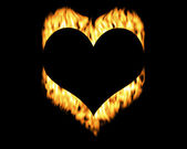 Heart on flames — Stock Photo