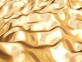 Gold metallic silk cloth — Stock Photo