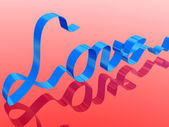 Love ribbon — Stock Photo