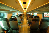 Interior of train in Finland — Stock Photo