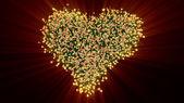 Valentine heart of roses — Stock Photo