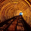 Luminescent tunnel. - Stock Photo