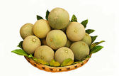 Basket with melons. — Stock Photo