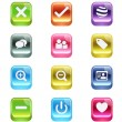 3d vector beveled useful icon set — Stock Vector