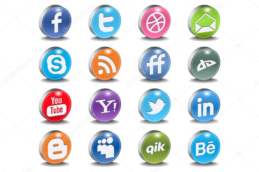 Most used social networks and programs  — Stock vektor #5686144