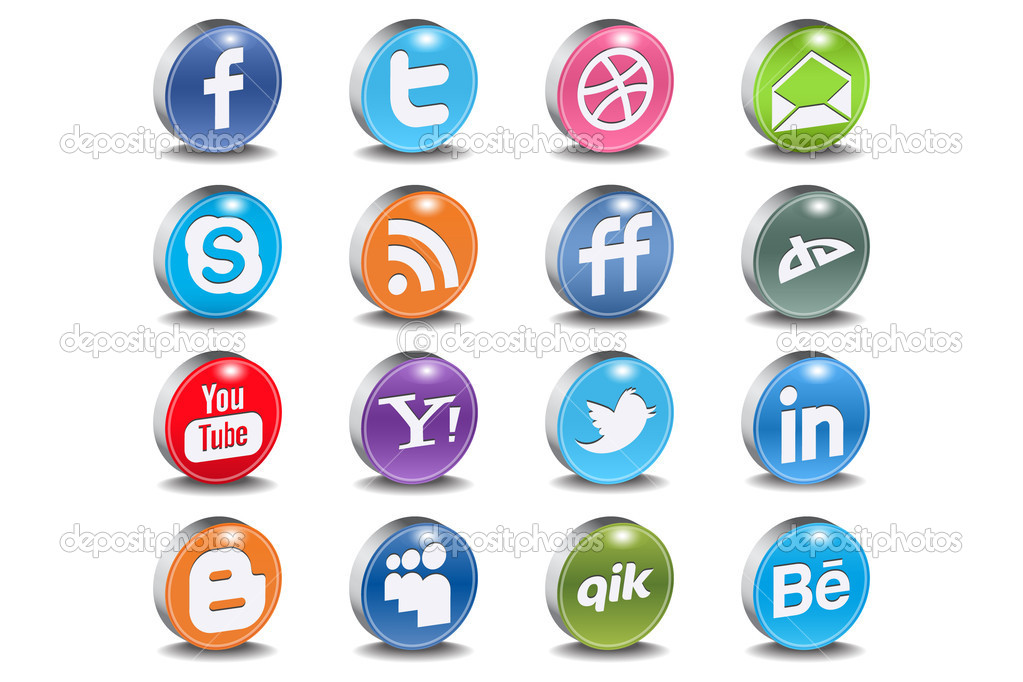 Most used social networks and programs  — Stok Vektör #5686144