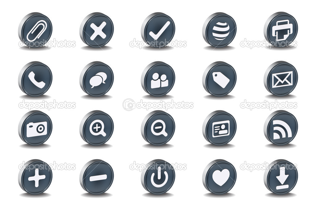 Mono Inset Various Vector Icons  Stock Vector #5717810