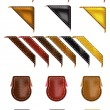 Leather Web Angle Corners — Cтоковый вектор
