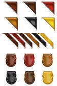 Leather Web Angle Corners — Stock Vector