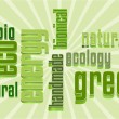 Eco Vector Green Word Cloud - Stock Vector