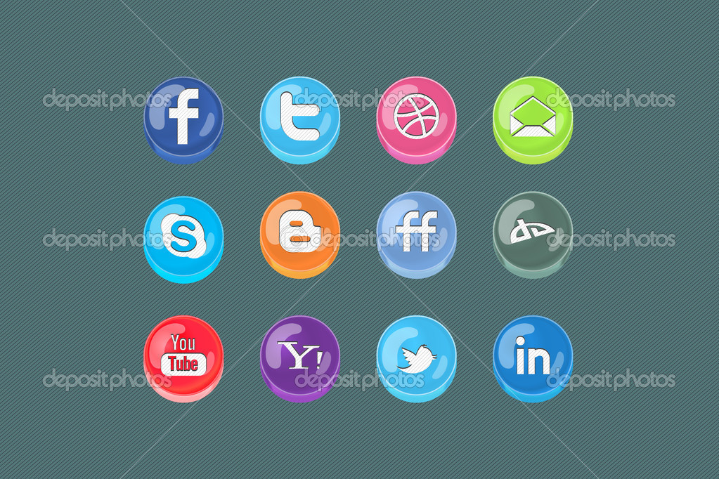 Vector 3d Social media Pills  Stock Vector #5877526