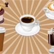 Realistic Vector Coffee Cups — Stock Vector