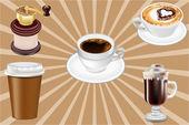 Realistic Vector Coffee Cups — Stock Vector