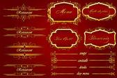 Royal Red Bienvenue restaurant Menu — Stock Vector