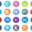 20 social media icons - Stock Vector
