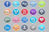 Coin Social Media Icons — Stock Vector