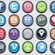 20 social media classic icons - Stock Vector