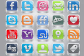 Iphone Type Social Media — Stock Vector
