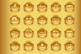 Gouden sociale media v1 — Stockvector