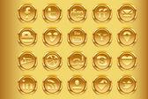 Zlaté sociální média v1 — Stock vektor