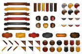Leather Webdesign Kit — Stock Vector