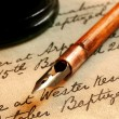 Nib Pen and Inkwell — Stock Photo