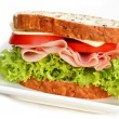 Stock Photo: Ham Sandwich