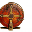 Vintage Fishing Reel - Stockfoto