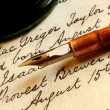 Nib Pen and Inkwell — Stock Photo #5525601