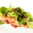 Royalty-Free Stock Photo: Salmon and Salad