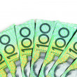 Australian One Hundred Dollar bills — Stock Photo