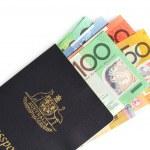 Australian Passport and Money — Stock Photo #5525734