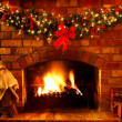 Christmas Fireplace — Stock Photo #5525804