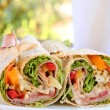 Salad Wrap — Stock Photo