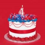 Number 4 Cake — Stock Photo