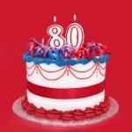 80th Cake — Stock Photo
