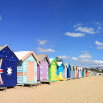 Brighton Beach Bathing Boxes — Stock Photo