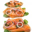 Smoked Salmon Appetizer — Stock Photo #5526168